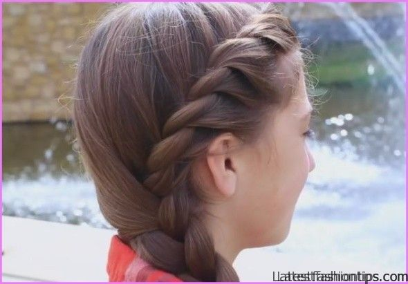 Twisted Side Braid Hairstyle