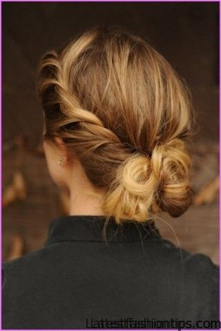 Twisted Updo Hairstyle