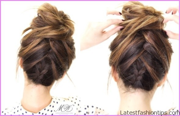 upside down french braid bun style hairstyle 12 Upside Down French Braid Bun Style Hairstyle