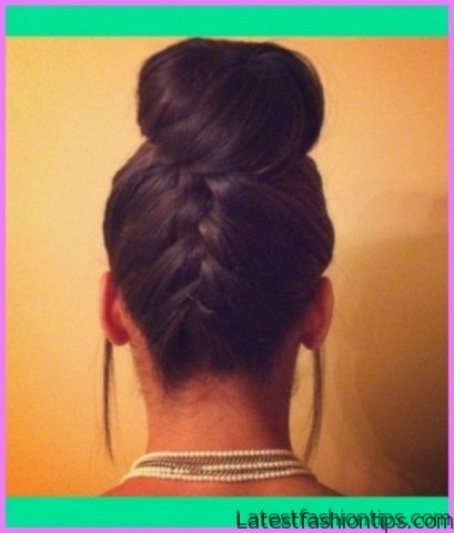 upside down french braid bun style hairstyle 13 1 Upside Down French Braid Bun Style Hairstyle