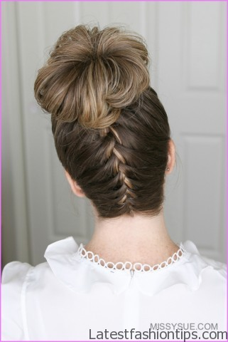upside down french braid bun style hairstyle 3 Upside Down French Braid Bun Style Hairstyle