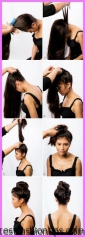 upside down french braid bun style hairstyle 6 1 Upside Down French Braid Bun Style Hairstyle