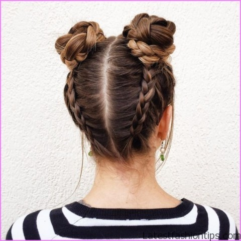upside down french braid bun style hairstyle 8 Upside Down French Braid Bun Style Hairstyle