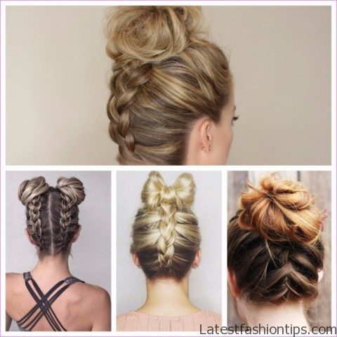 upside down french braid bun style hairstyle 9 Upside Down French Braid Bun Style Hairstyle
