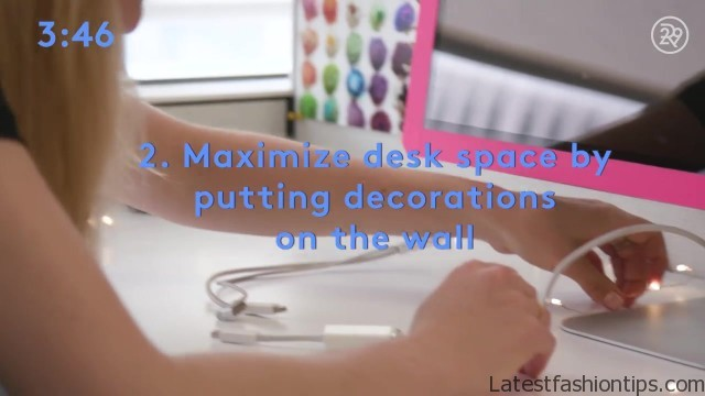 5minute desk organization with lucie fink bea organized 15