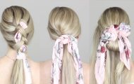 easy hairstyles with a scarf 36