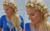 Half-up Half-down Hairstyle Fishtail into Pull Through Braid_0.jpg