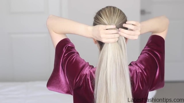 how to chinese staircase braid ponytail 15