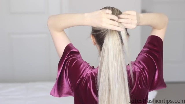how to chinese staircase braid ponytail 17