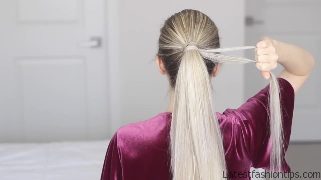how to chinese staircase braid ponytail 19
