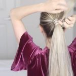 how to chinese staircase braid ponytail 23