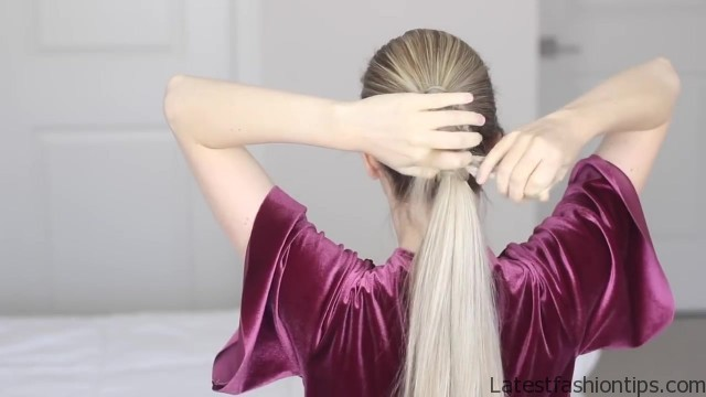 how to chinese staircase braid ponytail 25