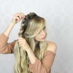 how to double twist crown braid easy simple 18