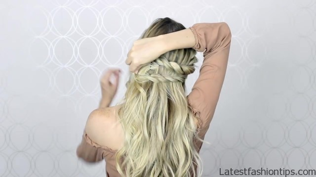 how to double twist crown braid easy simple 27