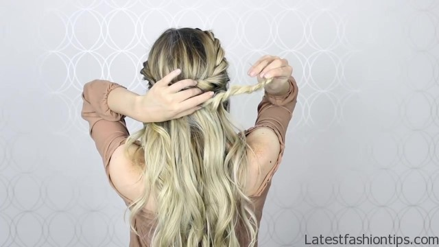 how to double twist crown braid easy simple 32