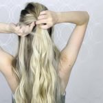 how to easy bubble ponytail medium long hair 09