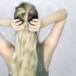 how to easy bubble ponytail medium long hair 12