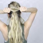 how to easy bubble ponytail medium long hair 13