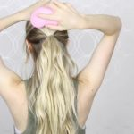 how to easy bubble ponytail medium long hair 14