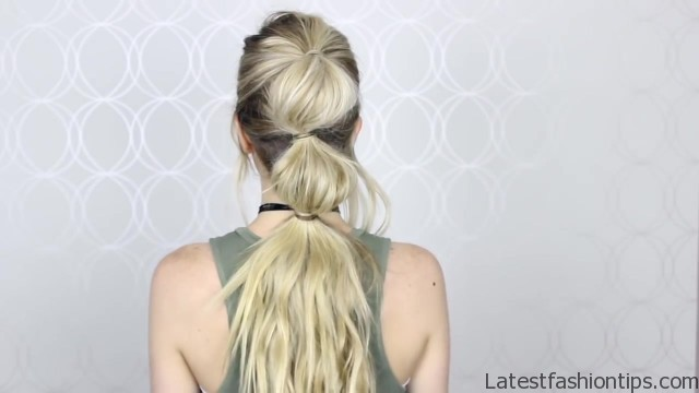 how to easy bubble ponytail medium long hair 18