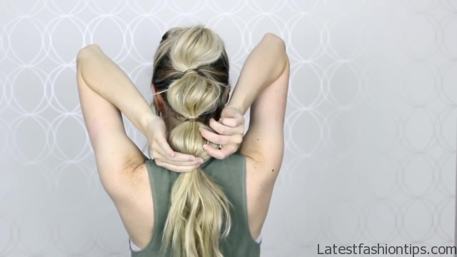 how to easy bubble ponytail medium long hair 20