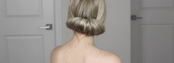 how to easy bun tutorial perfect for work prom weddings 26