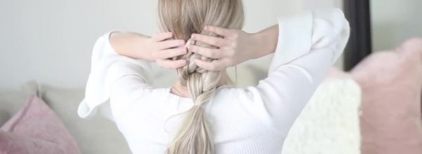 how to easy knotted ponytail tutorial 36