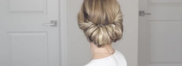 how to easy messy updo 30