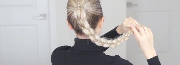 how to four 4 strand braid tutorial 37