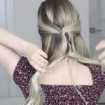 how to messy updo hair tutorial 14