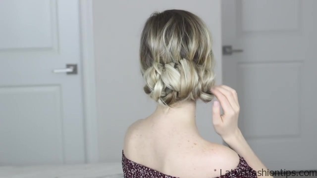how to messy updo hair tutorial 34