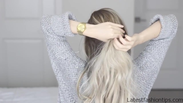 how to messy voluminous ponytail tutorial 15