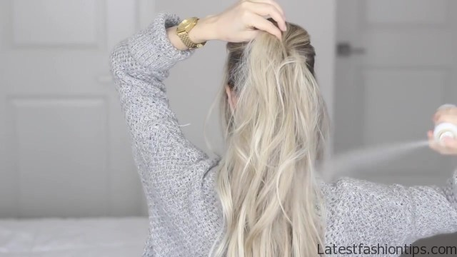 how to messy voluminous ponytail tutorial 23