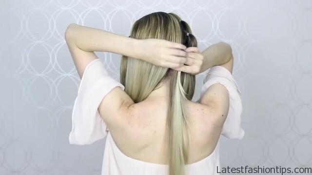 how to pull through crown braided hair tutorial summer inspired long medium hair 13