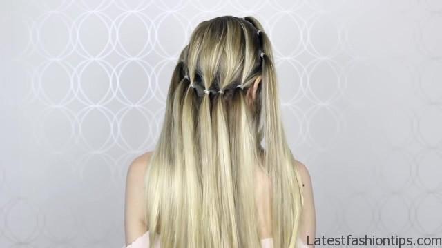 how to pull through crown braided hair tutorial summer inspired long medium hair 17