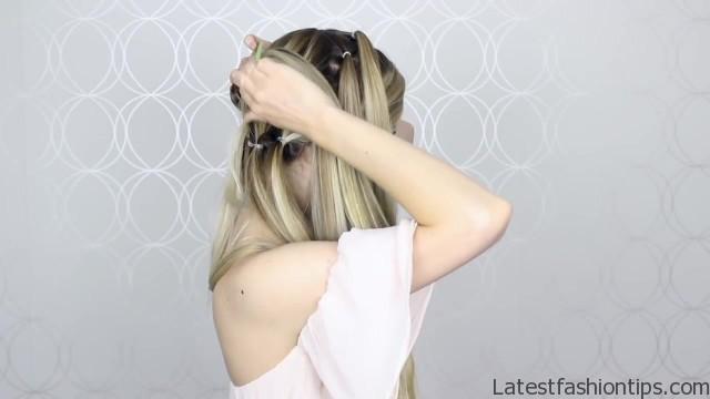 how to pull through crown braided hair tutorial summer inspired long medium hair 19