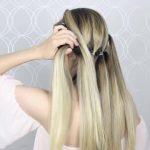 how to pull through crown braided hair tutorial summer inspired long medium hair 20