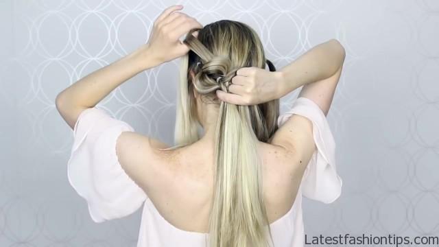 how to pull through crown braided hair tutorial summer inspired long medium hair 23
