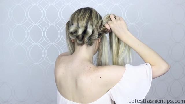 how to pull through crown braided hair tutorial summer inspired long medium hair 25