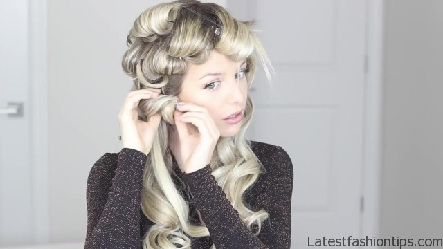 how to romantic hairstyle old hollywood inspired curls 38