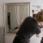 diy makeup organizer vanity with selfie camera for deepica mutyala bea organized 33