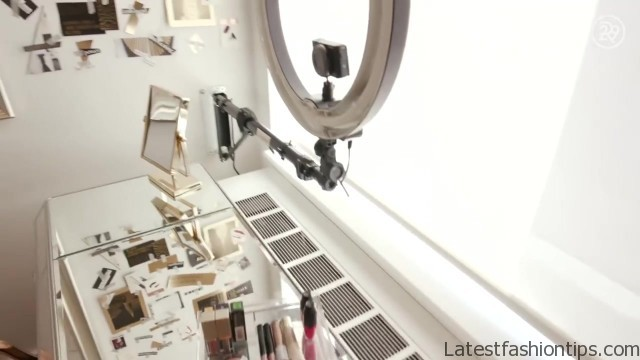 diy makeup organizer vanity with selfie camera for deepica mutyala bea organized 45