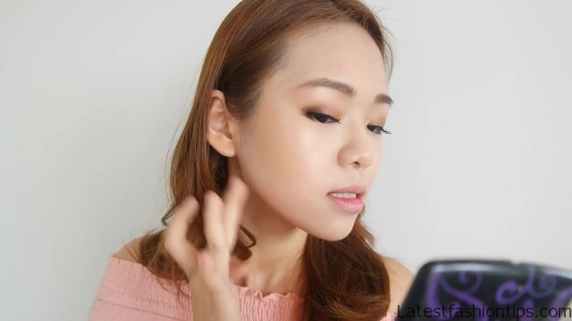 full face makeup using only fingers challenge no brush makeup eng sub 44