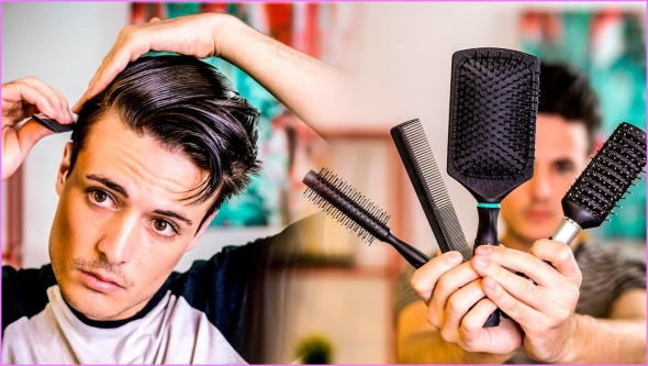 How To Brush Your Hair Correctly Ultimate Guide To Men's Hair Types Hairbrushes