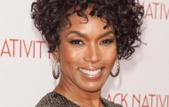 Angela Bassett Short Curly Formal Hairstyle - Dark Mocha Brunette Hair Color