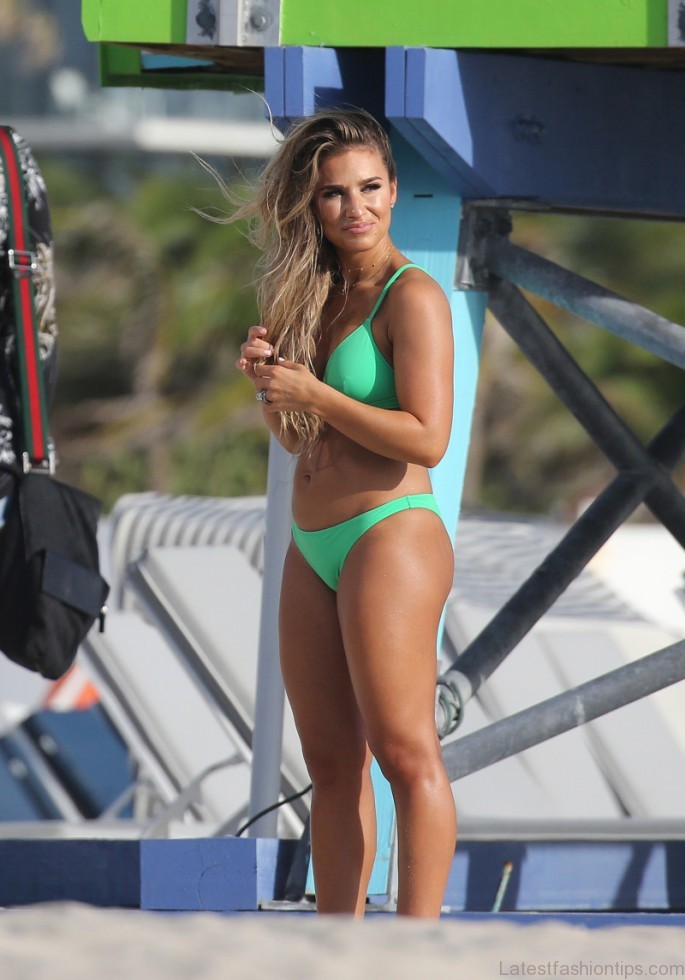 %name Jessie James Decker Frolics on the Beach in Teeny Green Bikini 7 Months After Welcoming Third Baby