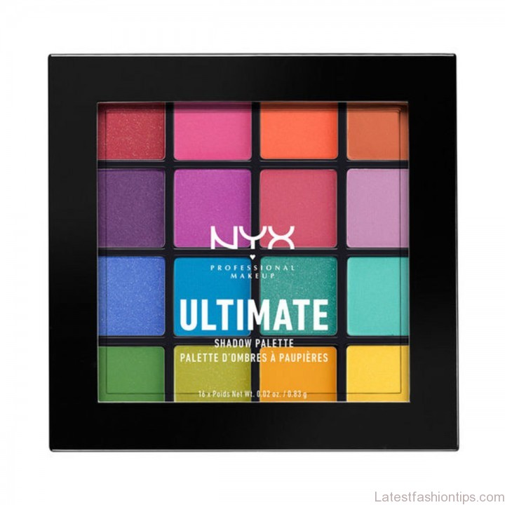 NYX brights palette