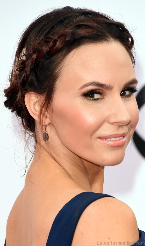 Plaited Thin Party Milk Maid Hairstyle