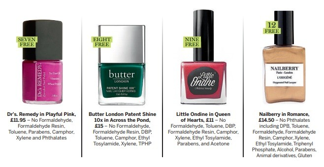8 Toxin Free Nail Varnish