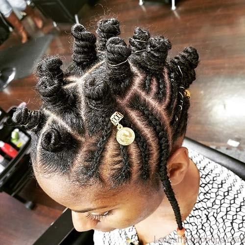Best Bantu Knots Hairstyles - Tall Bantu Knots